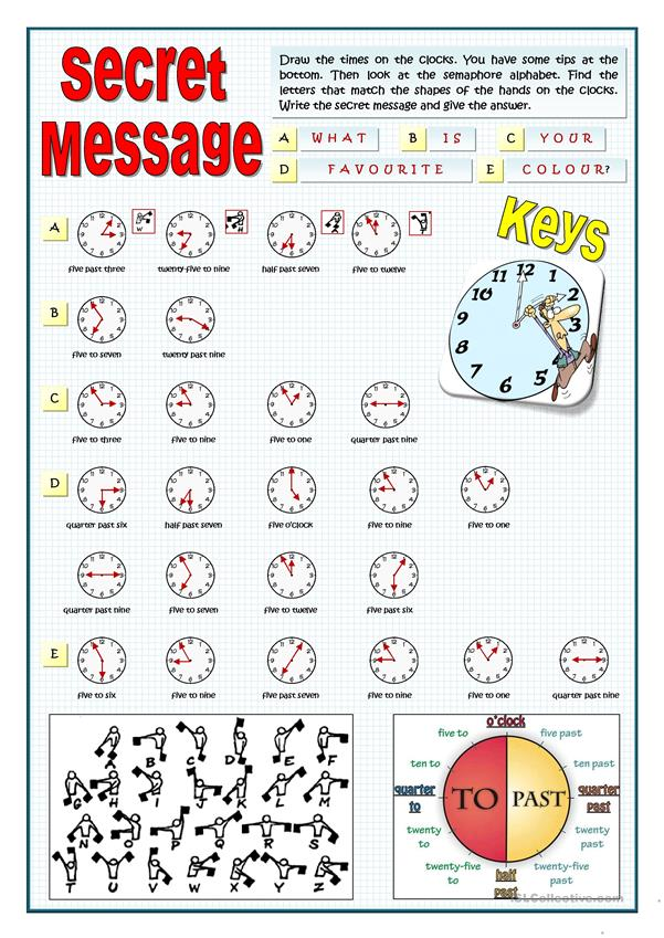 SECRET MESSAGE - DRAW THE TIME