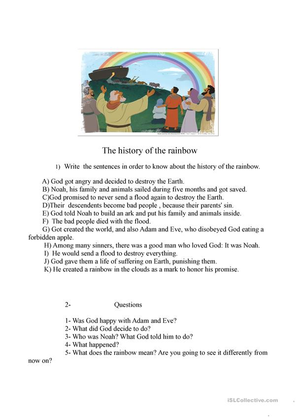 The history of the rainbow