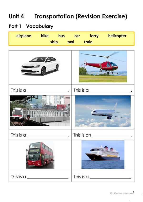 Transportation (Revision Exercise)
