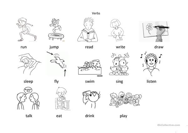 verbs for colouring