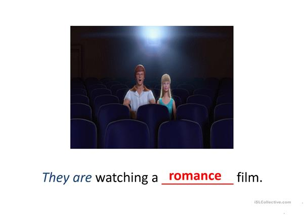What kind of film are they watching?