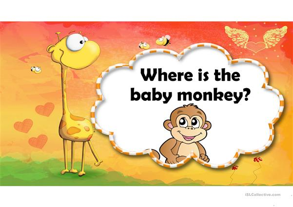 Where is the baby monkey?