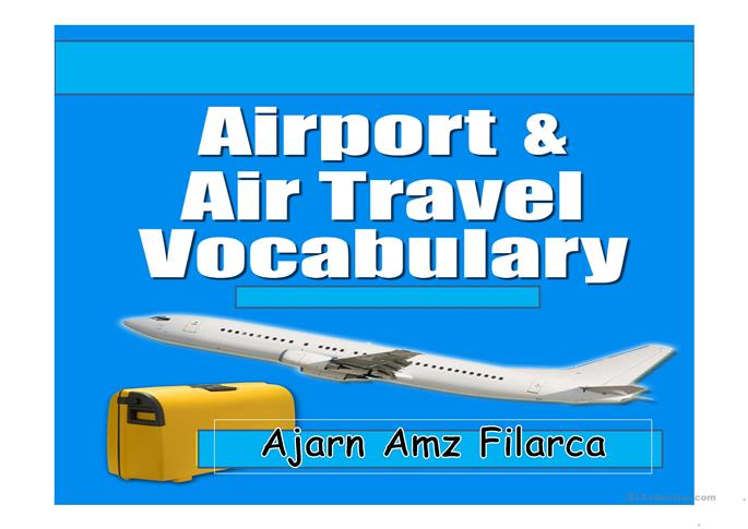 airport airline and travel vocabulary worksheet free