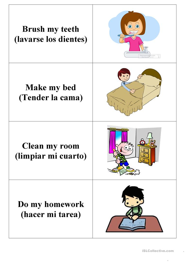 Daily Activities Flashcards English Esl Worksheets For Distance Learning And Physical Classrooms