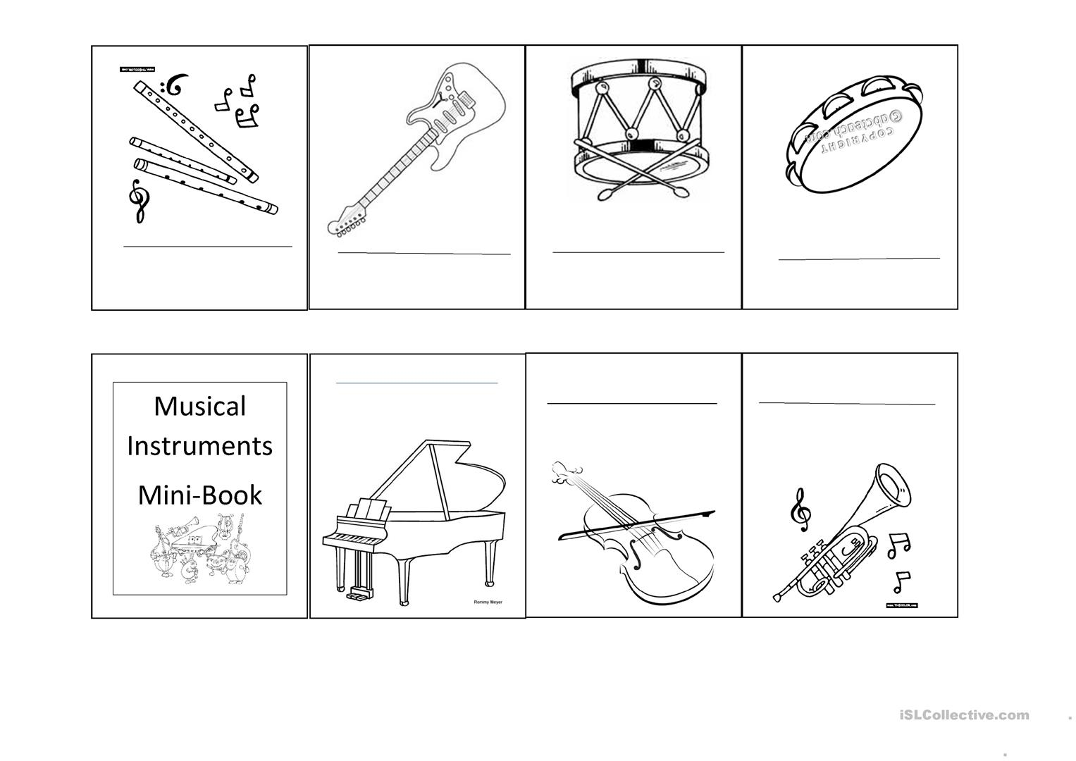Pictures hd musical instruments to printable