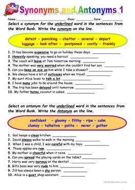 Fraction Equations Worksheets  Free Esl Opposites Antonyms Worksheets For Preintermediate  Easy Math Addition Worksheets Excel with Free Percent Worksheets Pdf  Worksheets Synonyms Vs Antonyms  Time And Measurement Worksheets
