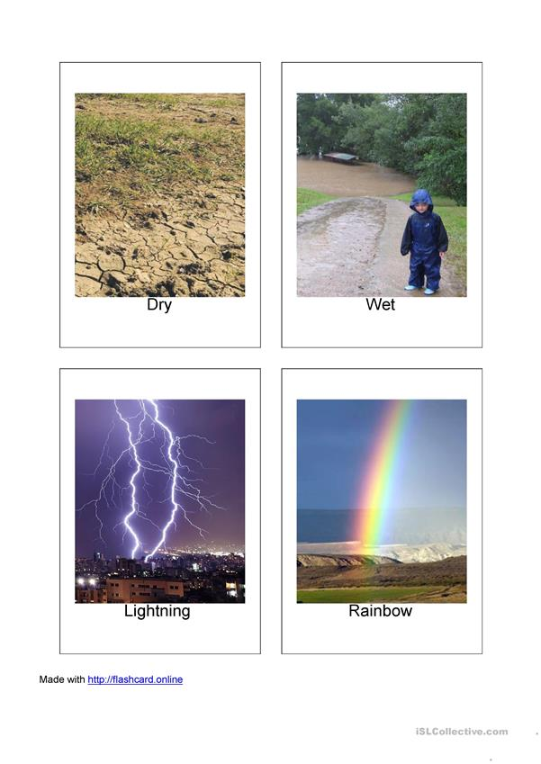 20 Weather Flashcards