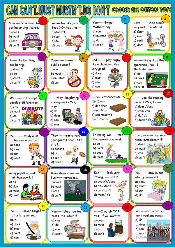 Auxiliary verbs : revision