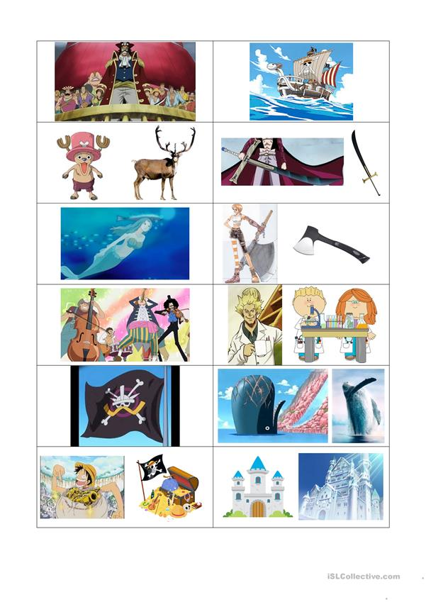 One Piece flashcards (in English-Vietnamese)