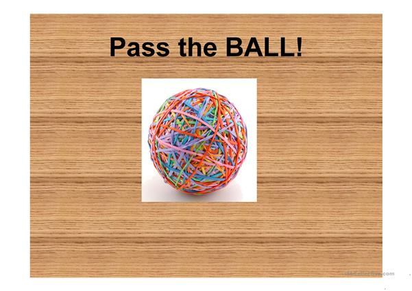 Pass the Ball Shapes