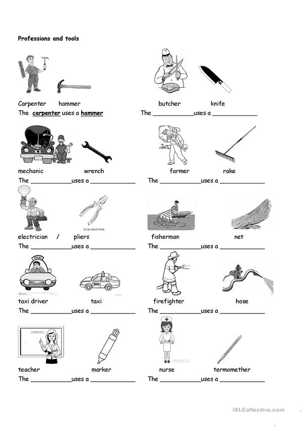 Professions and tools