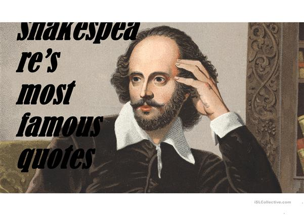 Shakespeare's most famous quotes