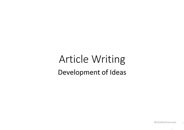 Writing Strategy on Ideas Development (Compare, Contrast, Cause & Connect)