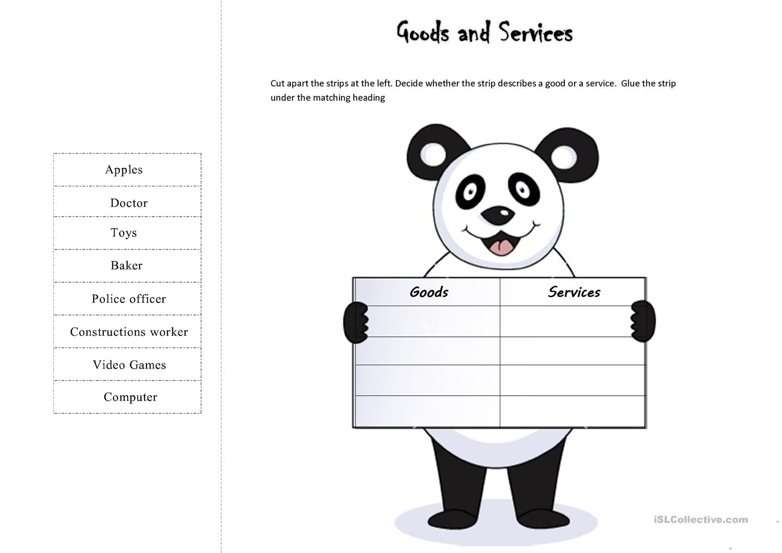 Worksheets Goods And Services Worksheets goods and services worksheet free esl printable worksheets made by full screen