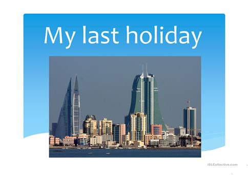 My last holiday worksheet - Free ESL projectable worksheets made by ...