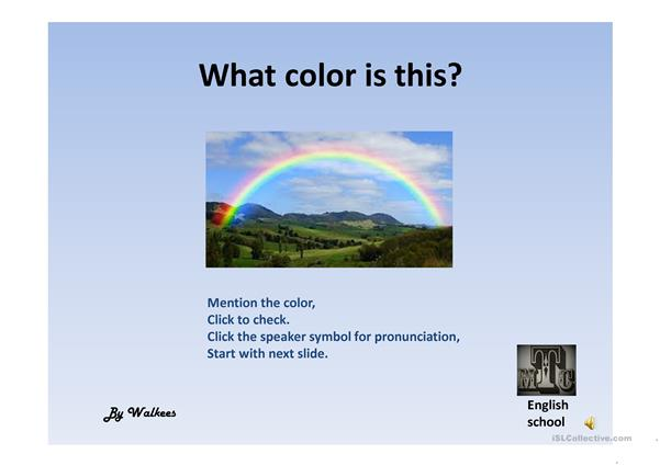 Basic colors + pronunciation