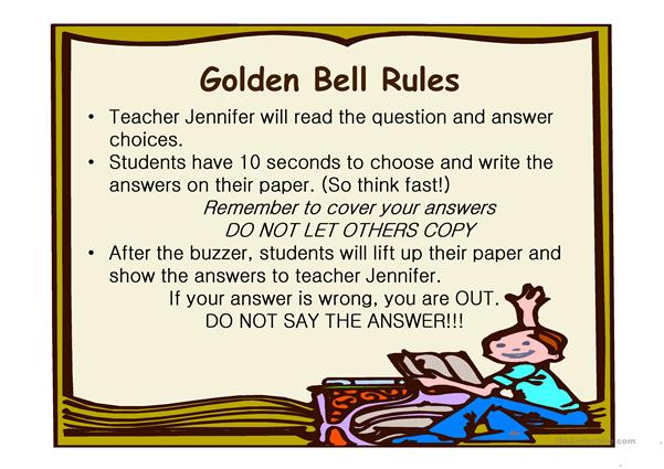 Golden Bell Challenge _ Action verb