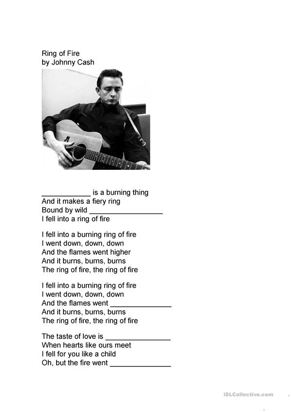 Ring of Fire--Johnny Cash