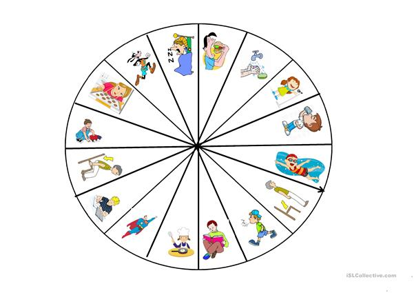 Wheel of Verbs