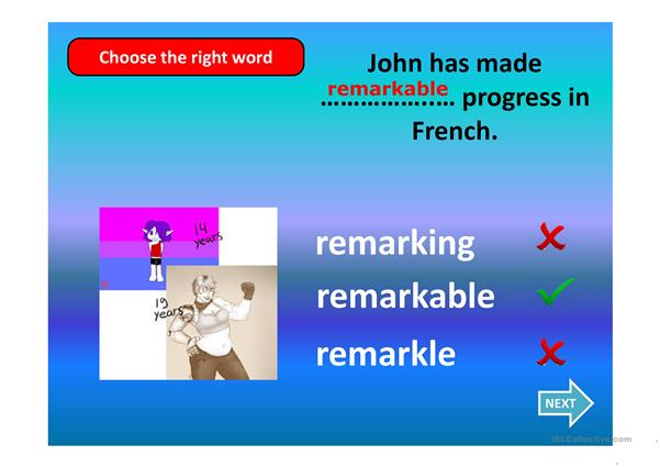 Wordformation: Adjective forms