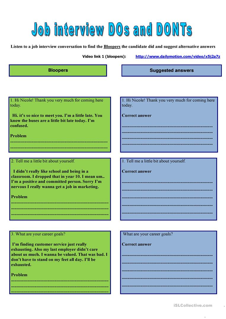 4 FREE ESL note-taking worksheets