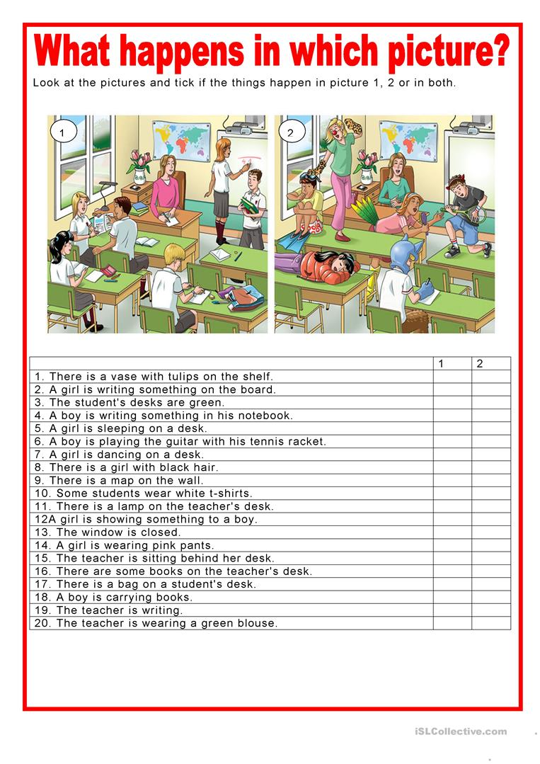 picture description what happens in which picture worksheet free esl printable worksheets. Black Bedroom Furniture Sets. Home Design Ideas