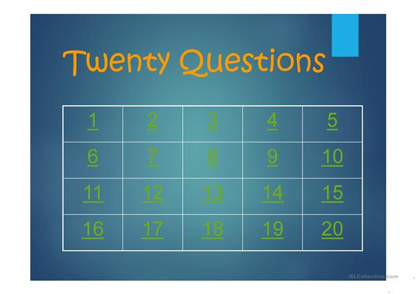 20 questions power point