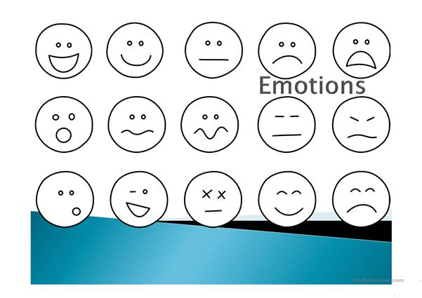 Emotions speaking tasks