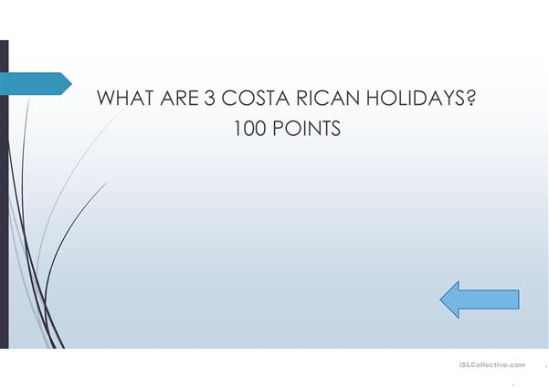 Holidays in Costa Rica and Natural Resources