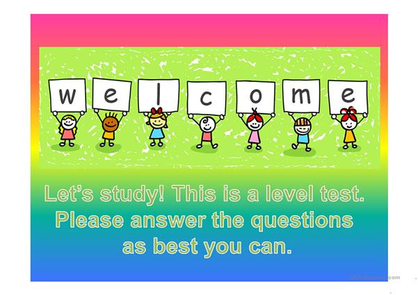 Level Assessment Activity for ESL Kids