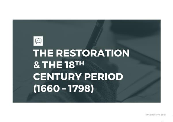The Restoration and 18th c period
