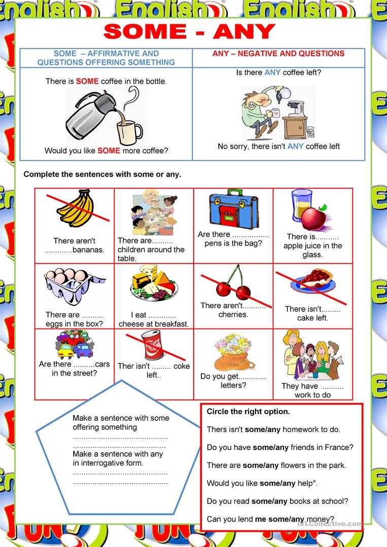 welcome to english some any quantifiers english esl worksheets. Black Bedroom Furniture Sets. Home Design Ideas