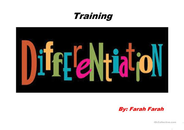 Differentiation In Teaching