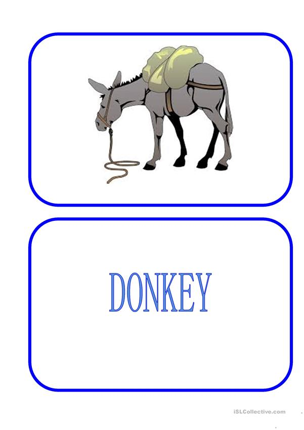 Flashcards - Animals - Farm, River, Field