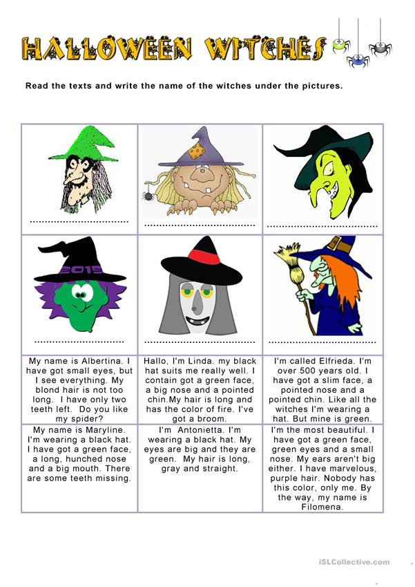 Halloween witches - description
