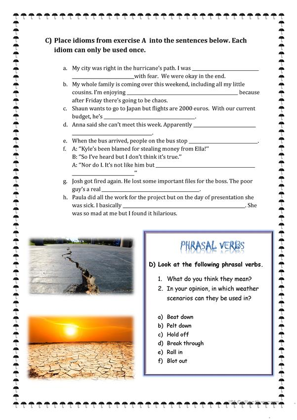 Natural Disasters - Phrasal Verbs and Idioms