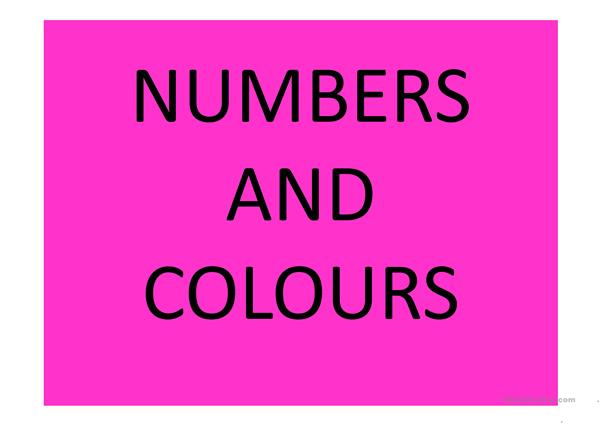 NUMBERS AND COLOURS GUESSING - VOCABULARY