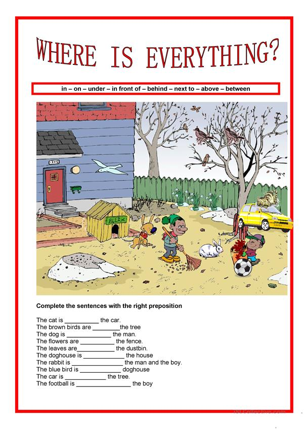 Prepositions - Where is everything?
