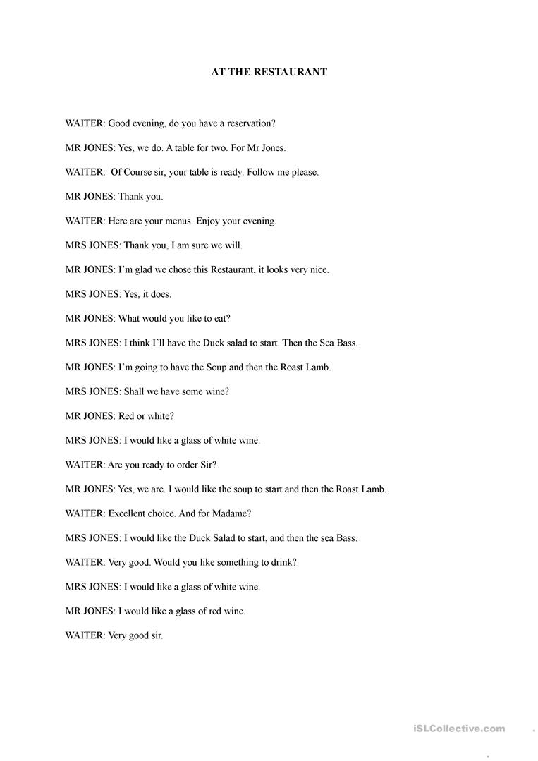Conversation worksheet for adults learning english TEFL ...