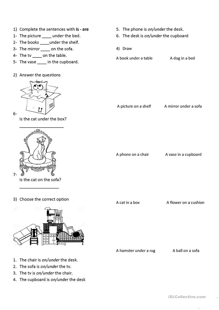 In On Under Worksheet - The Best and Most Comprehensive Worksheets