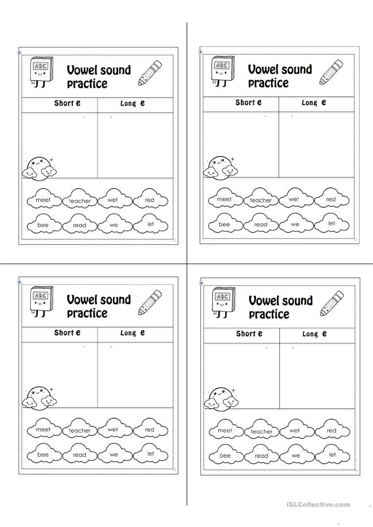 worksheet Long E Worksheet short e long worksheet free esl printable worksheets made by full screen
