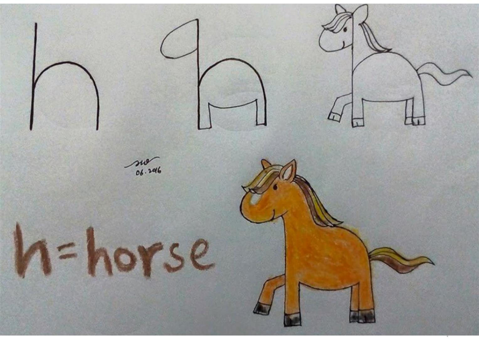 THE ALPHABET: DRAWING WITH THE LETTERS - English ESL Powerpoints