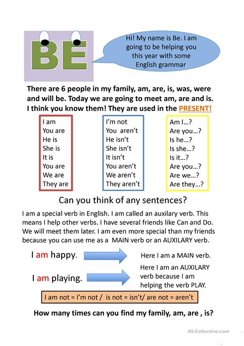 How To Teach Auxiliary Verbs Worksheet Free Esl Projectable