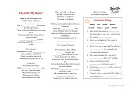 10 Free Esl Song Fill In The Blanks Worksheets