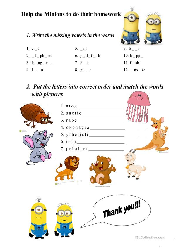 ABC animals exercises