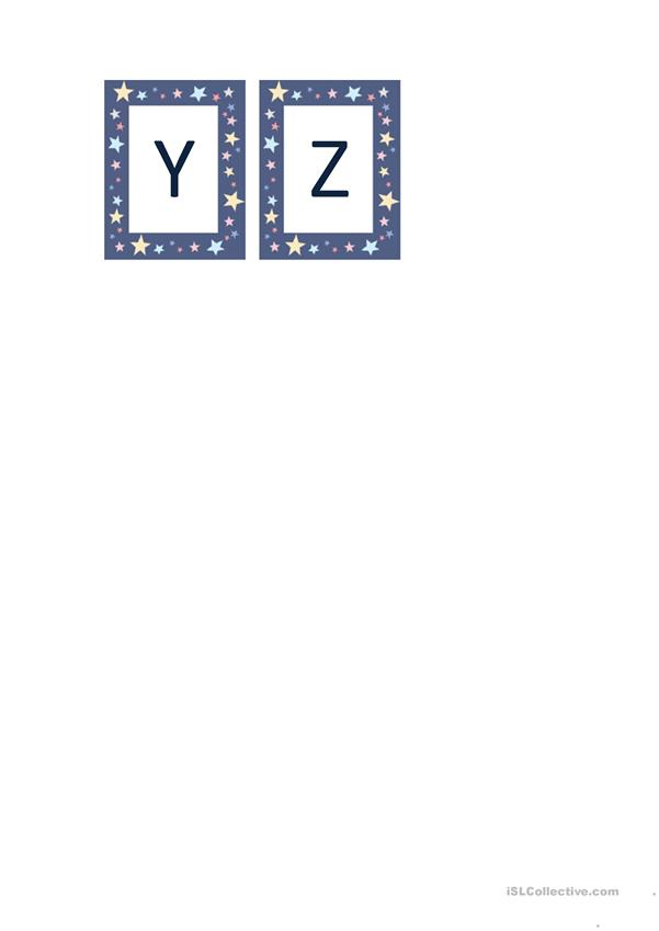 Alphabet flashcards - capital letters