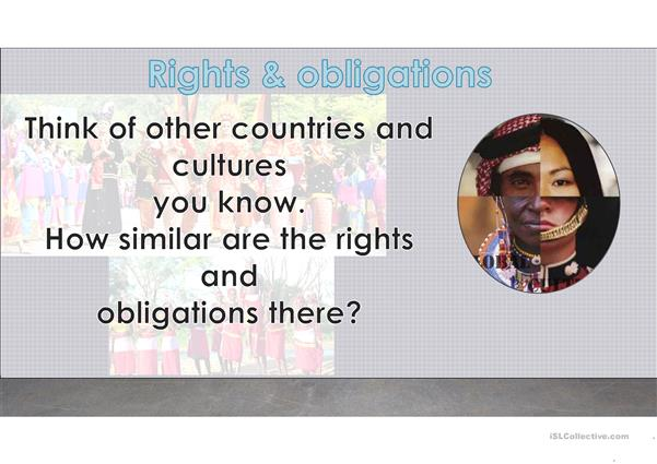 Conversation topic: rights and obligations