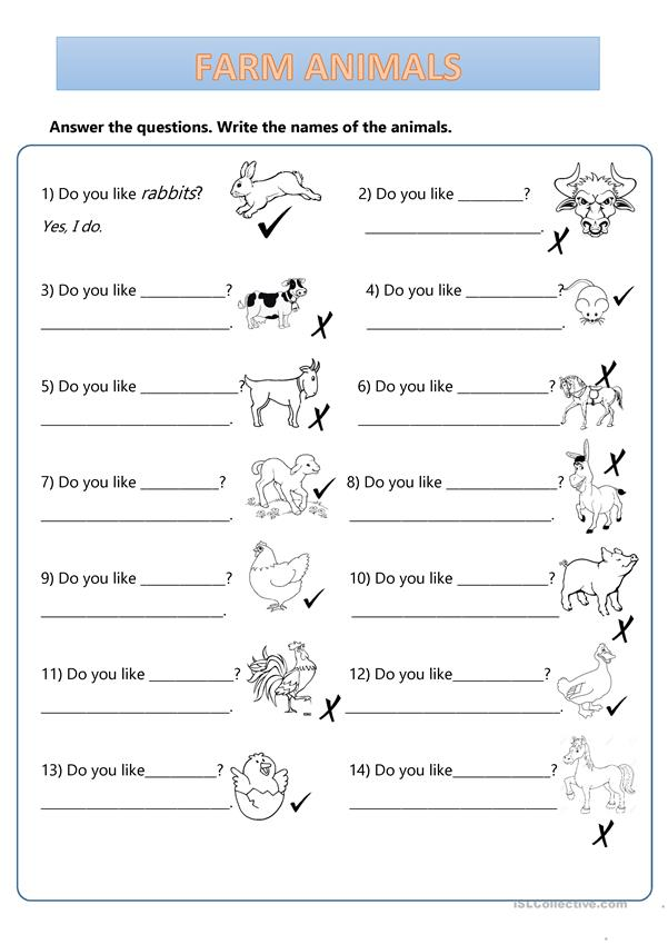 Farm Animals - What's this...? Do you like...?
