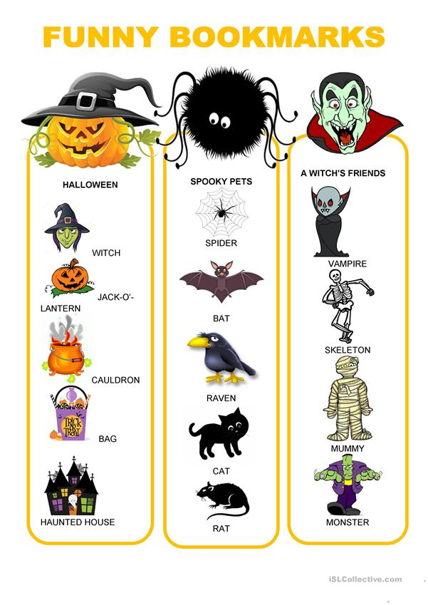 Funny bookmarks - Halloween