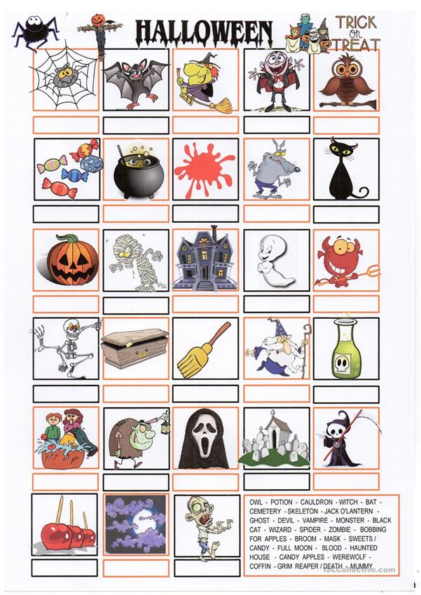 HALLOWEEN pictionary